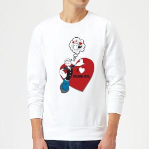 Popeye I Love Olive Oyl Sweatshirt - White