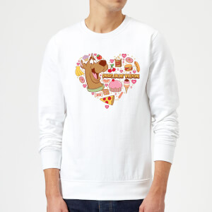 Scooby Doo Snacks Are My Valentine Sweatshirt - White
