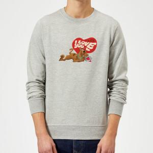 Scooby Doo It's No Mystery I Love You Sweatshirt - Grey