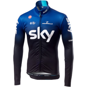 Team Sky Long Sleeve Thermal Jersey - Black/Dark Ocean