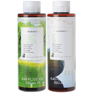 KORRES Natural The Greek God Shower Gel Duo (Vegan) (Worth £16)
