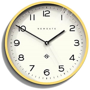 Newgate Number Three Echo Wall Clock - Cheeky Yellow