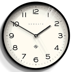 Newgate Number Three Echo Wall Clock - Black