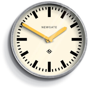 Newgate Luggage Wall Clock - Yellow Hands