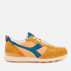 Diadora Camaro Used Trainers - Orange Mustard