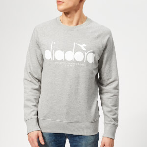 Diadora Men's 5 Palle Crew Neck Sweatshirt - Light Middle Grey Melange