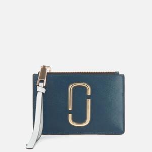 Marc Jacobs Women's Top Zip Wallet - Blue Sea Multi