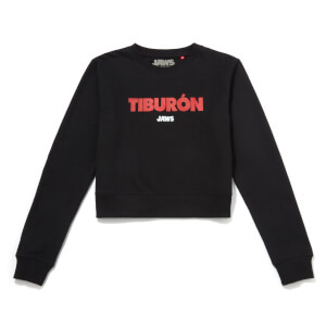 Global Legacy Jaws Tiburon Damen Cropped Sweatshirt - Schwarz