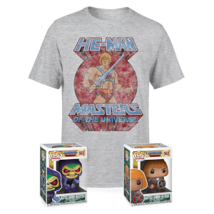 Lot Maîtres de l'univers (t-shirt + 2 figurines Pop!)