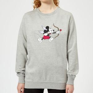 Disney Mickey Cupid Pocket Women's Sweatshirt - Grey