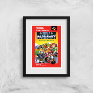 Nintendo Retro Super Mario Kart Cover Art Print