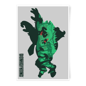 Nintendo Donkey Kong Jungle Silhouette Art Print