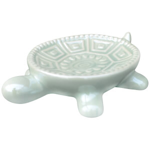 Candlelight Turtle Dish - Green