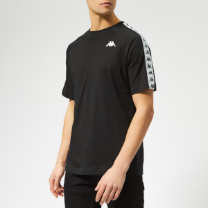 Kappa Men's Taped Small Logo Short Sleeve T-Shirt - Black/White