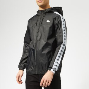 Kappa Men's Zip Through Rain Jacket - Black