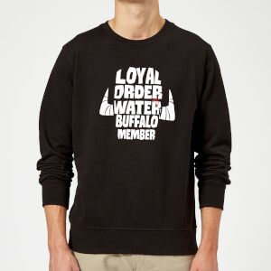 The Flintstones Loyal Order Of Water Buffalo Member Sweatshirt - Black
