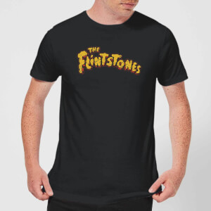 The Flintstones Logo Men's T-Shirt - Black
