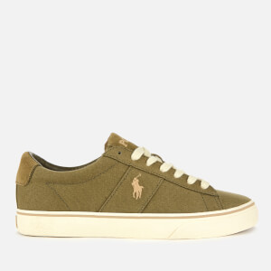 Polo Ralph Lauren Men's Sayer-Ne Canvas Vulcanised Trainers - Field Sage
