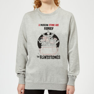 The Flintstones Modern Stone Age Family Women's Sweatshirt - Grey