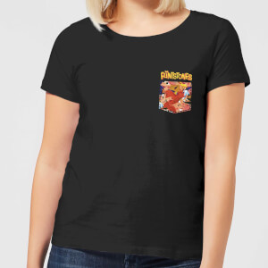 The Flintstones Pocket Pattern Women's T-Shirt - Black