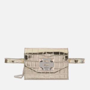 SALAR Women's Sylvie Croco Belt Bag - Gold