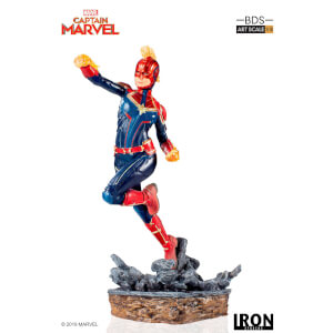Iron Studios Marvel Comics BDS Art Scale Statue 1/10 Captain Marvel 20 cm