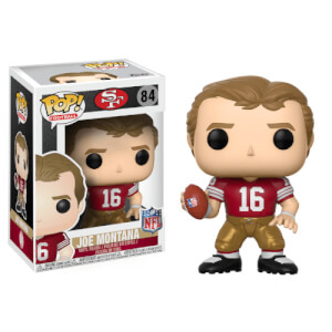 d338cc2e776 NFL Joe Montana 49ers Home Jersey Pop! Vinyl Figure