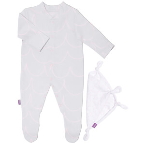 Snüz Baby Sleepsuit and Comforter Gift Set (0-3m) - Wave Rose