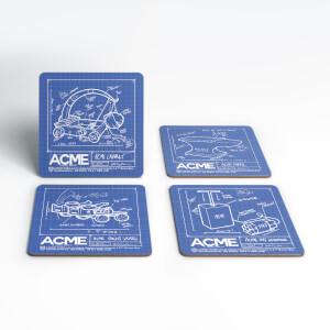 Looney Tunes ACME Blueprints Coaster Set
