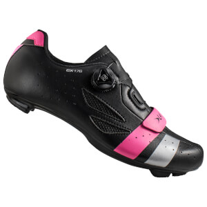 Lake CX176 Road Shoes - Black/Pink/Silver