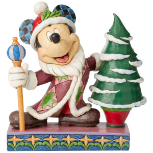 Jolly Ol' St. Mick, Figurine Mickey Mouse en père Noël (19 cm) – Disney Traditions