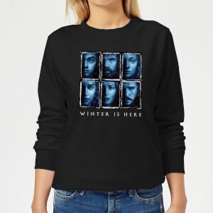 Game of Thrones Winter Is Here Faces Women's Sweatshirt - Black