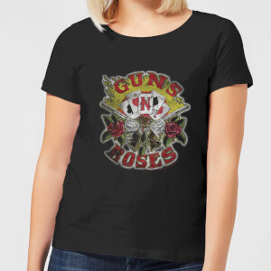 Guns N Roses Cards Damen T-Shirt - Schwarz