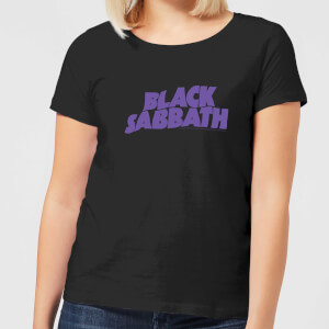 Black Sabbath Logo Damen T-Shirt - Schwarz