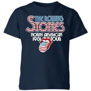 Rolling Stones 81 Tour Logo Kids' T-Shirt - Navy