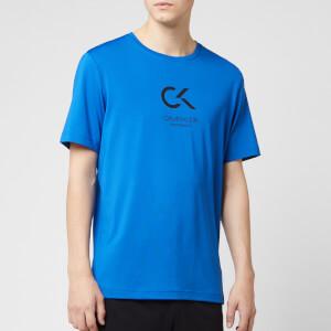 Calvin Klein Performance Men's Short Sleeve Logo T-Shirt - Nautical Blue/Bright White