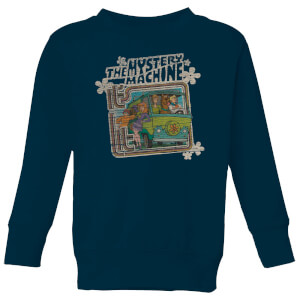 Scooby Doo Mystery Machine Psychedelic Kids' Sweatshirt - Navy