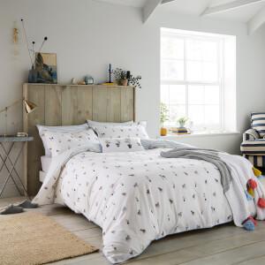 Joules Garden Dogs Duvet Cover - White