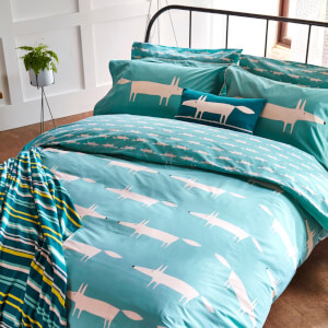 Scion Mr. Fox Duvet Cover - Teal
