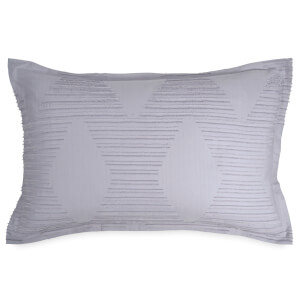 DKNY Geo Clip Jacquard Standard Pillowcase - Purple