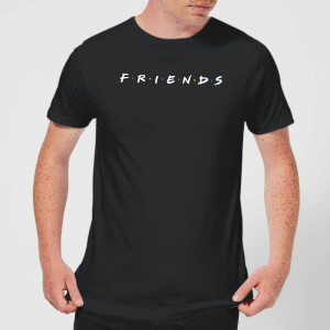 Friends Logo Contrast Men's T-Shirt - Black