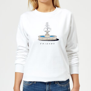 Friends Fountain Women's Sweatshirt - White