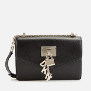 DKNY Women's Elissa Small Shoulder Flap Bag - Black/Gold