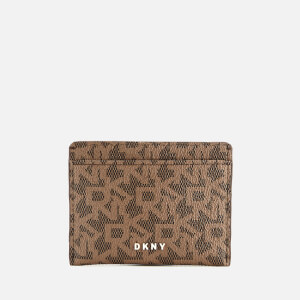 DKNY Women's Bryant Card Holder - Mocha Logo