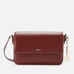 DKNY Women's Bryant Medium Flap Cross Body Bag Sutton - Blood Red
