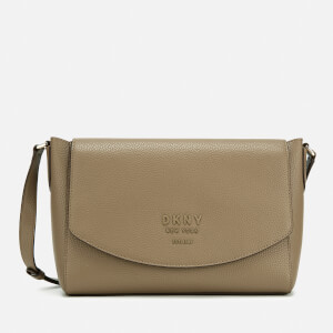DKNY Women's Noho Flap Messenger Bag - Mushroom/Canyon Rose