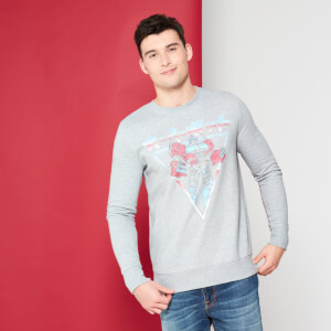 Transformers Optimus Prime Retro Japanese Sweatshirt - Grey
