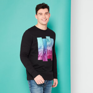 Looney Tunes Kaboom Collection Bugs Polyptych Sweatshirt - Black