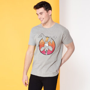 Looney Tunes Kaboom Collection Classic Wile E. Coyote Men's T-Shirt - Grey
