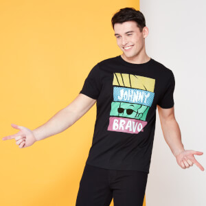 Cartoon Network Spin-Off Johnny Bravo 90's Slices T-Shirt - Black